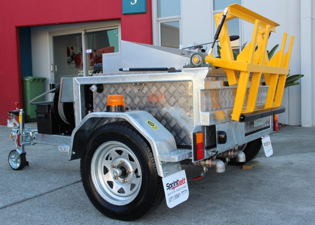 Wheelie Bin Cleaning >> Bin Cleaning Trailers The Gold Coast Bin Butler